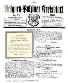 Belgard-Polziner Kreisblatt, 1923, Nr 75