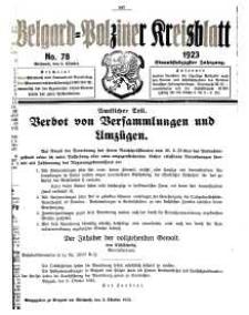 Belgard-Polziner Kreisblatt, 1923, Nr 78