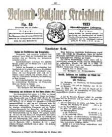 Belgard-Polziner Kreisblatt, 1923, Nr 83