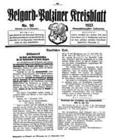 Belgard-Polziner Kreisblatt, 1923, Nr 90