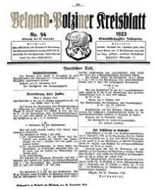 Belgard-Polziner Kreisblatt, 1923, Nr 94