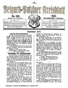 Belgard-Polziner Kreisblatt, 1923, Nr 100