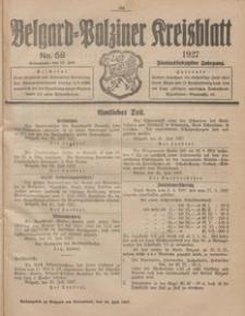 Belgard-Polziner Kreisblatt, 1927, Nr 58
