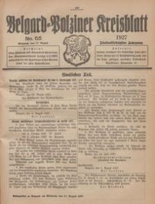 Belgard-Polziner Kreisblatt, 1927, Nr 65