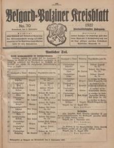 Belgard-Polziner Kreisblatt, 1927, Nr 70