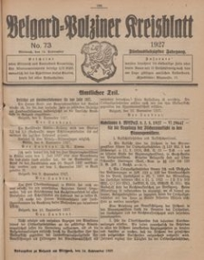 Belgard-Polziner Kreisblatt, 1927, Nr 73