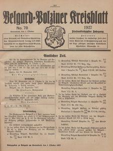 Belgard-Polziner Kreisblatt, 1927, Nr 78