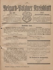Belgard-Polziner Kreisblatt, 1927, Nr 85