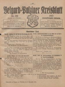 Belgard-Polziner Kreisblatt, 1927, Nr 89