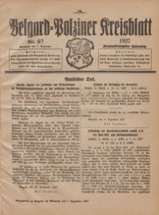 Belgard-Polziner Kreisblatt, 1927, Nr 97