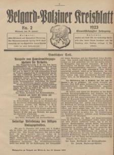 Belgard-Polziner Kreisblatt, 1923, Nr 2