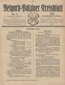 Belgard-Polziner Kreisblatt, 1923, Nr 3