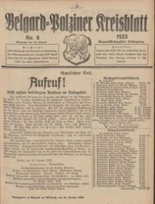Belgard-Polziner Kreisblatt, 1923, Nr 6
