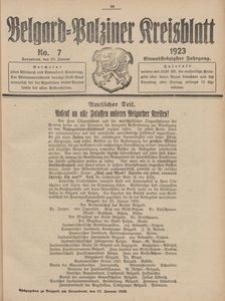 Belgard-Polziner Kreisblatt, 1923, Nr 7