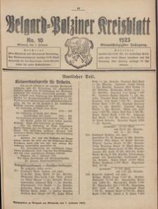 Belgard-Polziner Kreisblatt, 1923, Nr 10