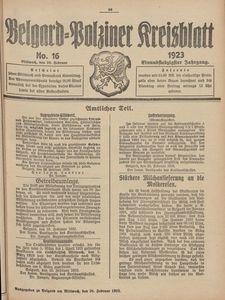 Belgard-Polziner Kreisblatt, 1923, Nr 16