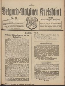 Belgard-Polziner Kreisblatt, 1923, Nr 17