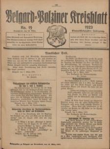 Belgard-Polziner Kreisblatt, 1923, Nr 19
