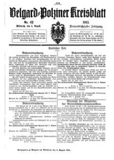Belgard-Polziner Kreisblatt, 1915, Nr 62