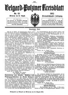 Belgard-Polziner Kreisblatt, 1915, Nr 68