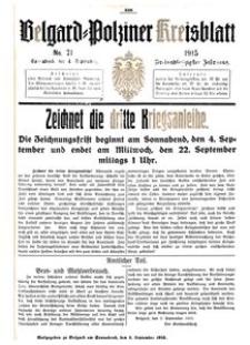 Belgard-Polziner Kreisblatt, 1915, Nr 71