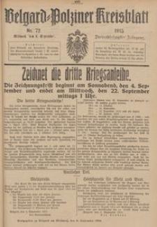 Belgard-Polziner Kreisblatt, 1915, Nr 72