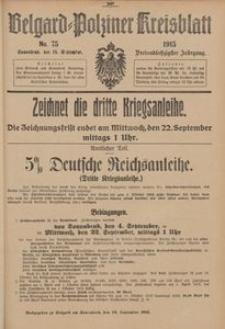 Belgard-Polziner Kreisblatt, 1915, Nr 75