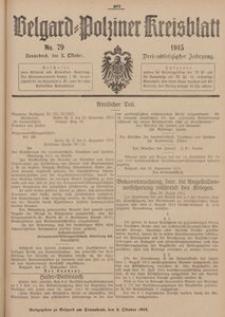 Belgard-Polziner Kreisblatt, 1915, Nr 79