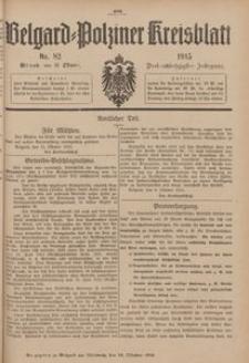 Belgard-Polziner Kreisblatt, 1915, Nr 82