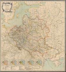 Mapa Rzeczypospolitej Polskiej [Mapa] : z przydaniem kart oryentacyjnych trzech podziałów, Ks. Warszawskiego i okręgu Wolnego miasta Krakowa