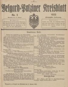 Belgard-Polziner Kreisblatt, 1922, Nr 3