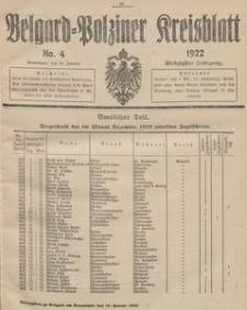 Belgard-Polziner Kreisblatt, 1922, Nr 4