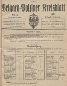 Belgard-Polziner Kreisblatt, 1922, Nr 5