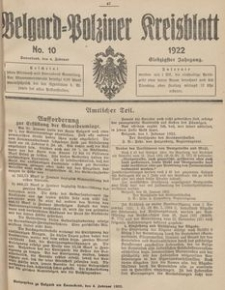 Belgard-Polziner Kreisblatt, 1922, Nr 10