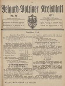 Belgard-Polziner Kreisblatt, 1922, Nr 15
