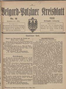 Belgard-Polziner Kreisblatt, 1922, Nr 18
