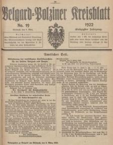 Belgard-Polziner Kreisblatt, 1922, Nr 19
