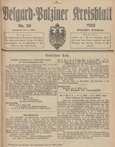 Belgard-Polziner Kreisblatt, 1922, Nr 20