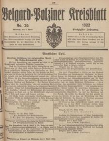 Belgard-Polziner Kreisblatt, 1922, Nr 26