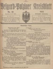 Belgard-Polziner Kreisblatt, 1922, Nr 32
