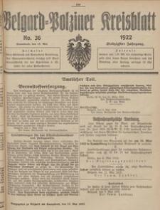 Belgard-Polziner Kreisblatt, 1922, Nr 36