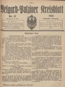 Belgard-Polziner Kreisblatt, 1922, Nr 37