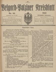 Belgard-Polziner Kreisblatt, 1922, Nr 44