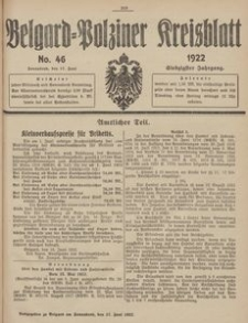 Belgard-Polziner Kreisblatt, 1922, Nr 46