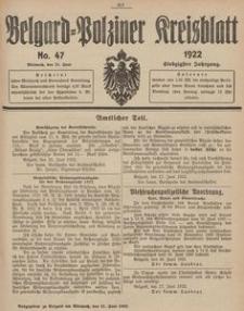 Belgard-Polziner Kreisblatt, 1922, Nr 47