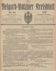 Belgard-Polziner Kreisblatt, 1922, Nr 49