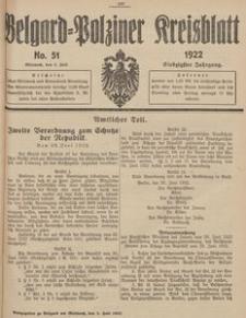 Belgard-Polziner Kreisblatt, 1922, Nr 51