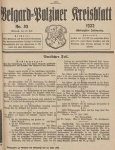 Belgard-Polziner Kreisblatt, 1922, Nr 53