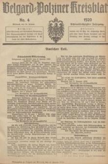 Belgard-Polziner Kreisblatt, 1920, Nr 4