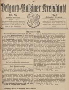 Belgard-Polziner Kreisblatt, 1922, Nr 56